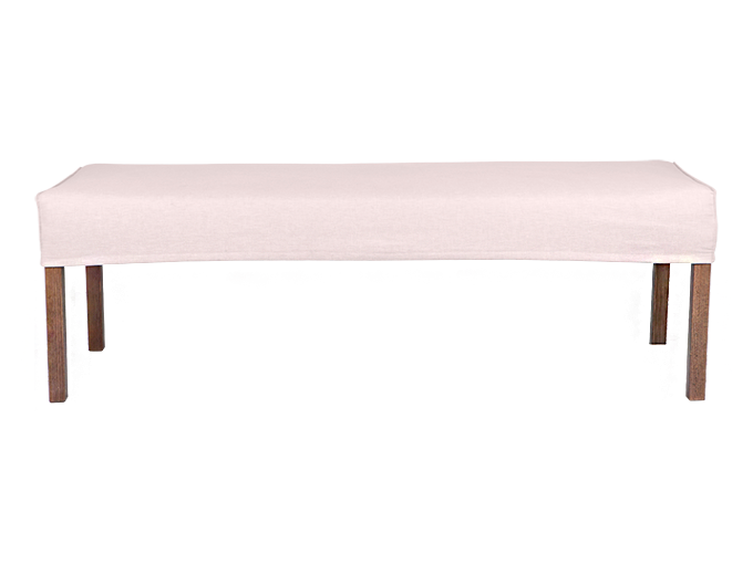 Super 120Cm Ali Dining Bench Slip Cover With French Seam 4 Pabps2019 Chair Design Images Pabps2019Com