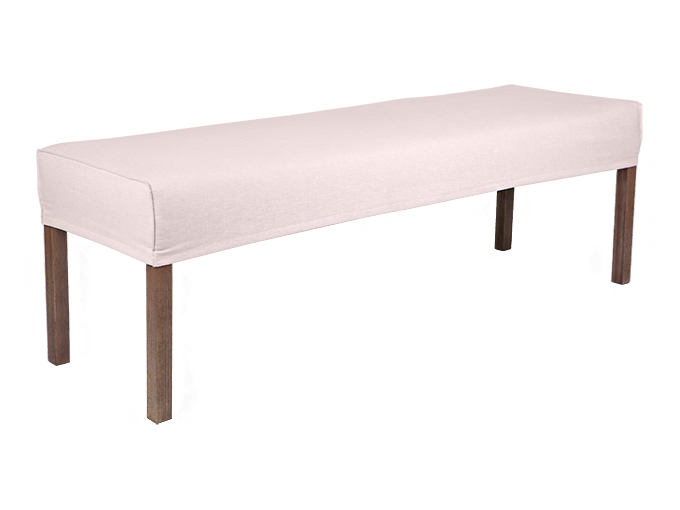 Groovy 120Cm Ali Dining Bench Slip Cover With French Seam 4 Pabps2019 Chair Design Images Pabps2019Com