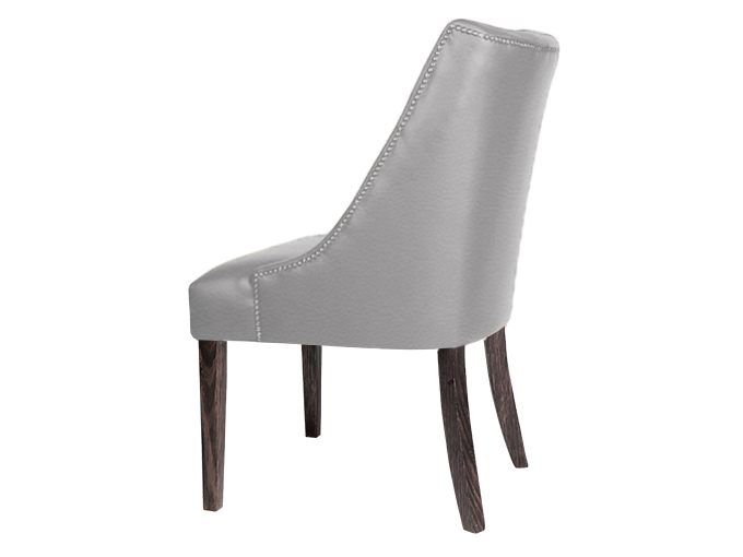 Marvelous Chloe Hi Back Dining Chair Fixed Cover With 11Mm Strip Studs Caraccident5 Cool Chair Designs And Ideas Caraccident5Info